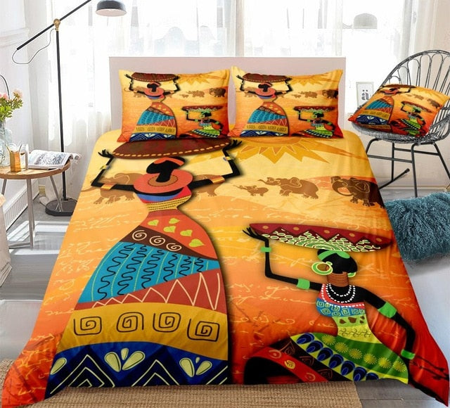 The Beauty Of African Girl Bedding Set - Beddingify