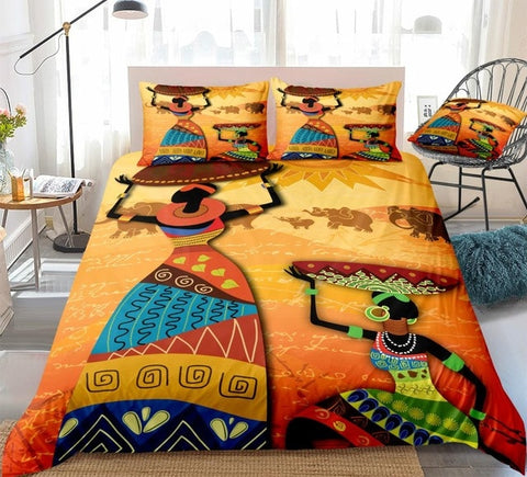 Image of The Beauty Of African Girl Bedding Set - Beddingify