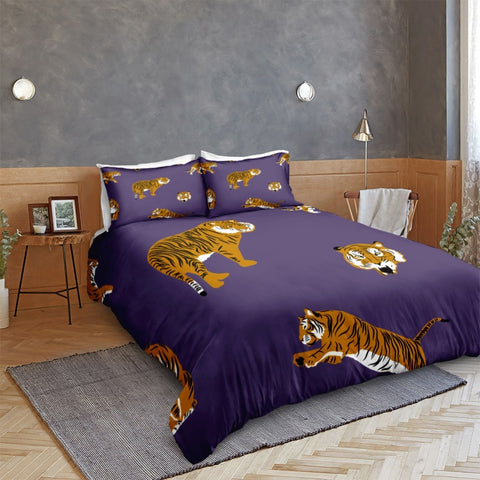 Image of Cartoon Tiger Bedding Set - Beddingify