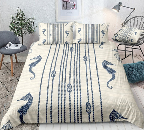Image of Seahorse Bedding Set - Beddingify