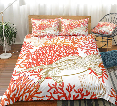 Image of Coral Turtle Bedding Set - Beddingify