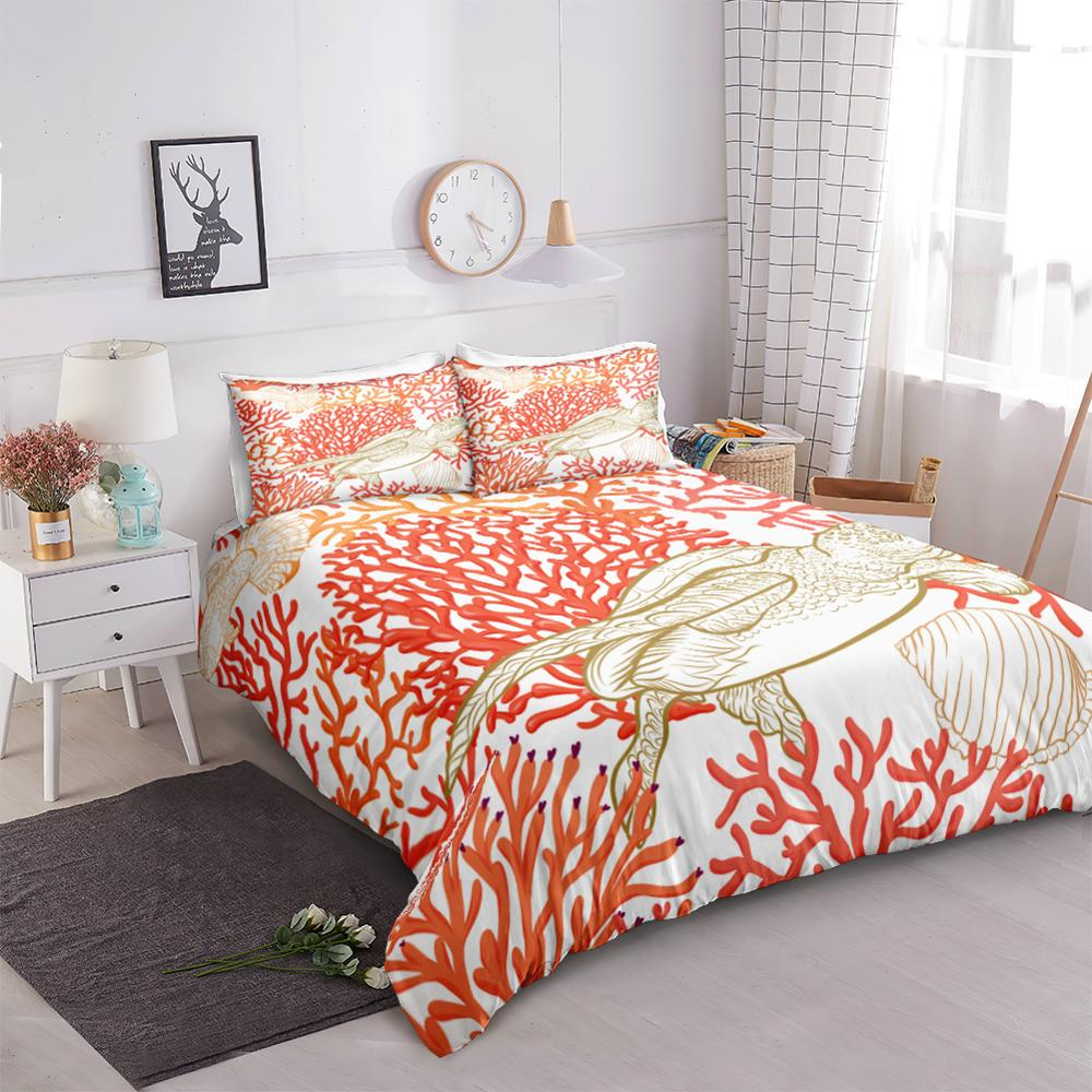 Coral Turtle Bedding Set - Beddingify