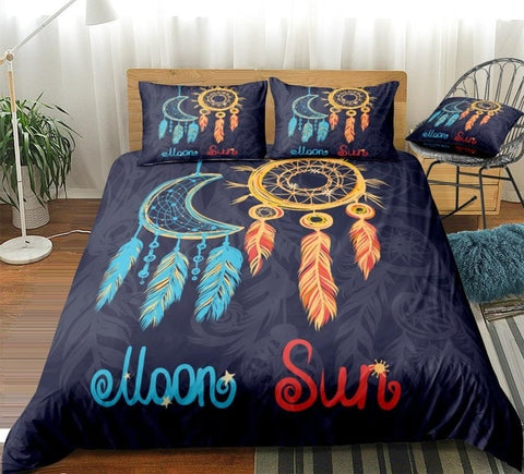 Dreamcatcher Sun And Moon Bedding Set - Beddingify