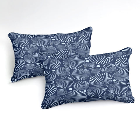 Image of Blue Shells Bedding Set - Beddingify
