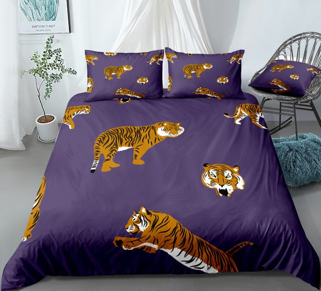 Cartoon Tiger Bedding Set - Beddingify
