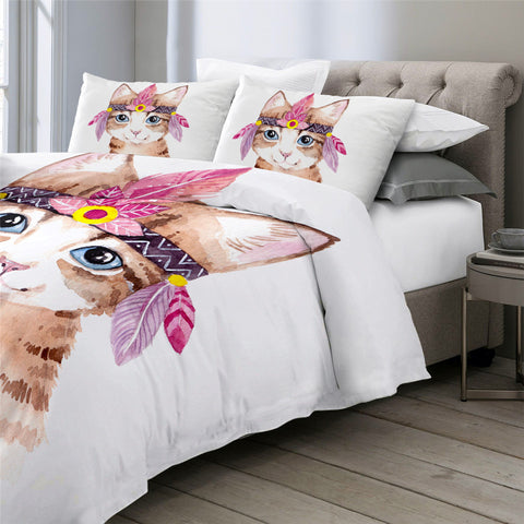 Image of Girly Cat Bedding Set - Beddingify
