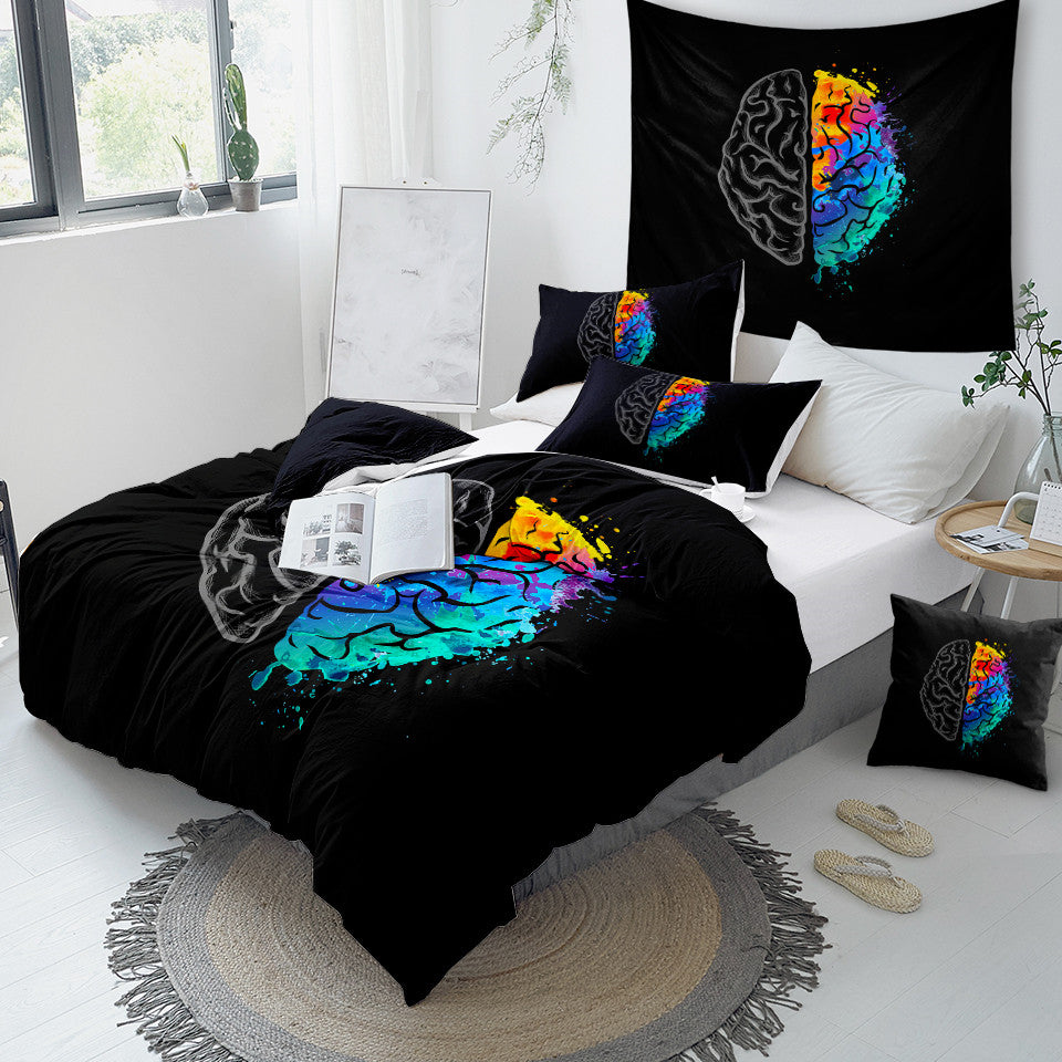 Colorful Human Brain Bedding Set - Beddingify