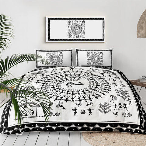 Image of Ancient Tribal Art  Bedding Set - Beddingify