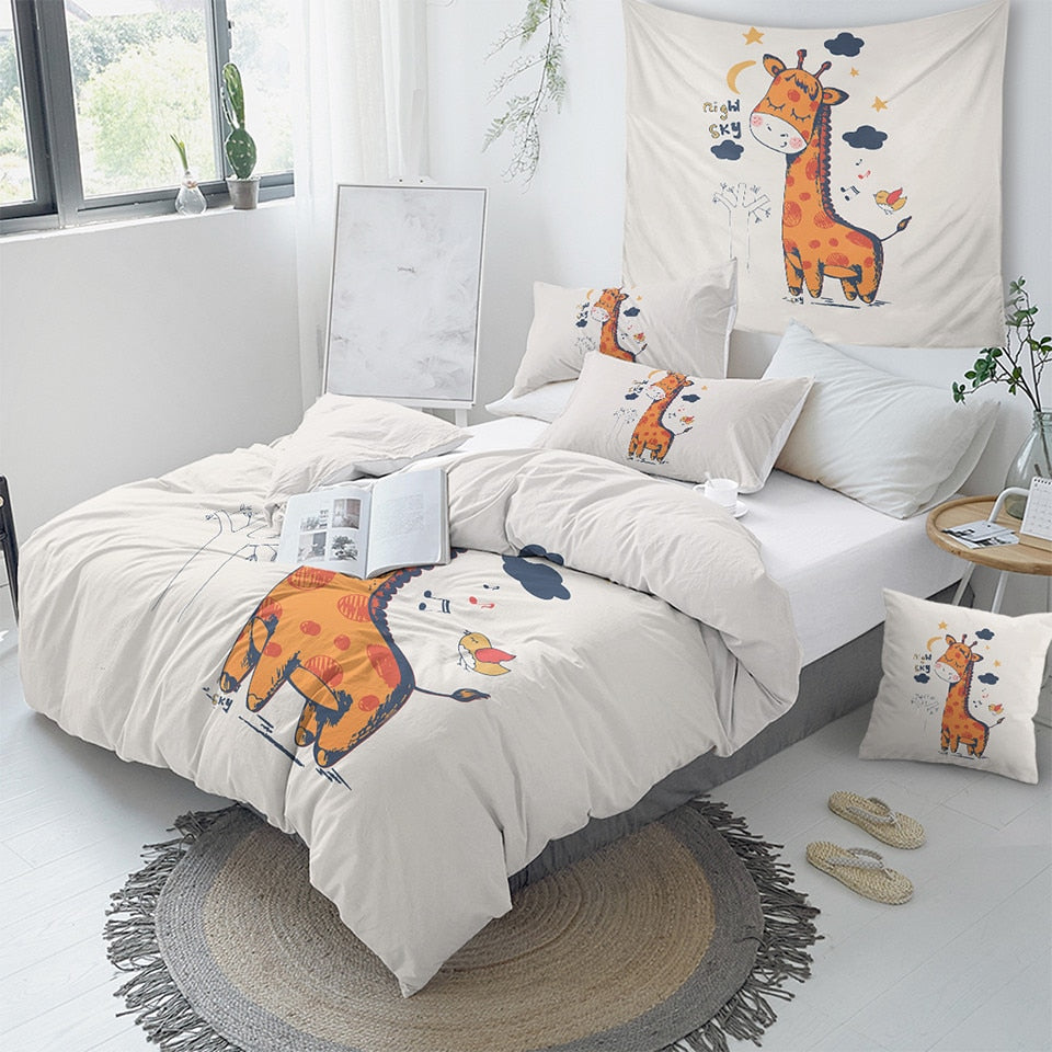 Cute Giraffe Bedding Set - Beddingify