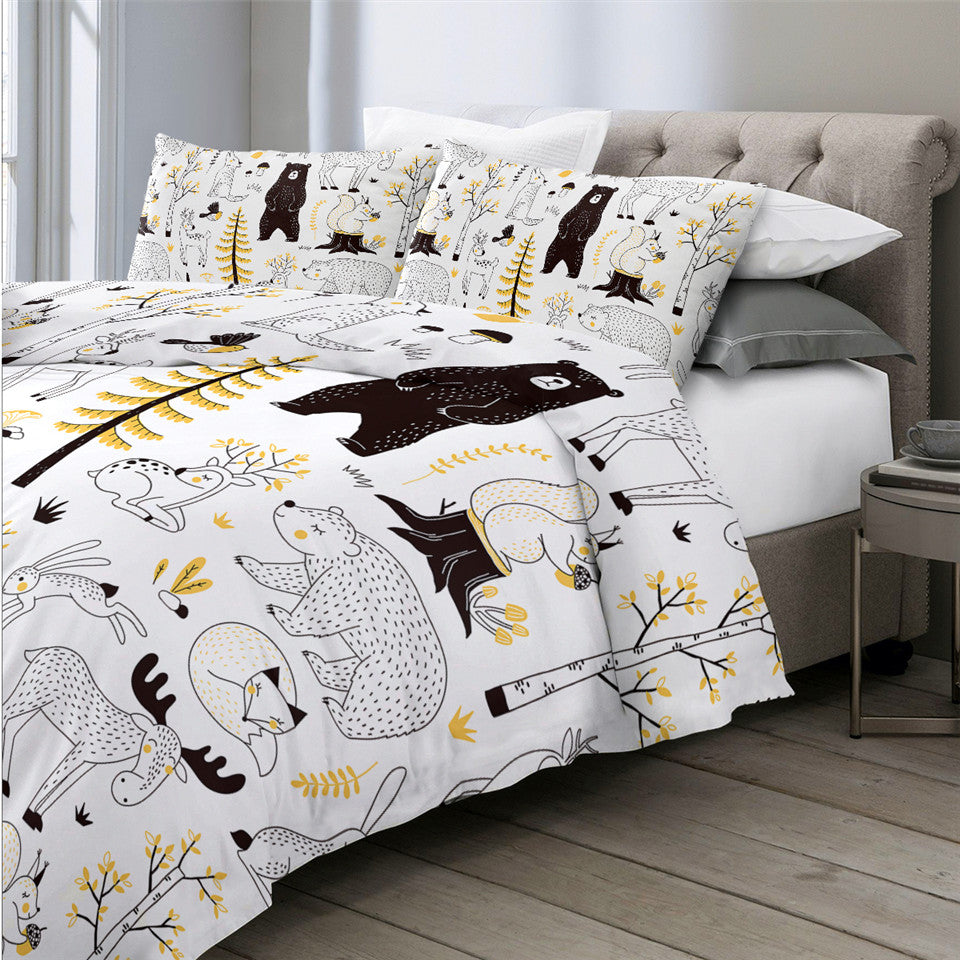 Cute Animal Bedding Set - Beddingify