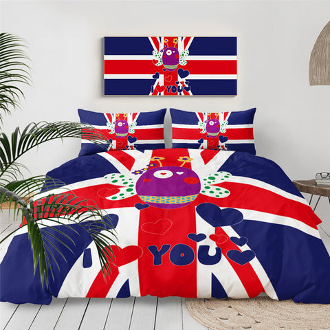 Image of British Flag Bee Bedding Set - Beddingify