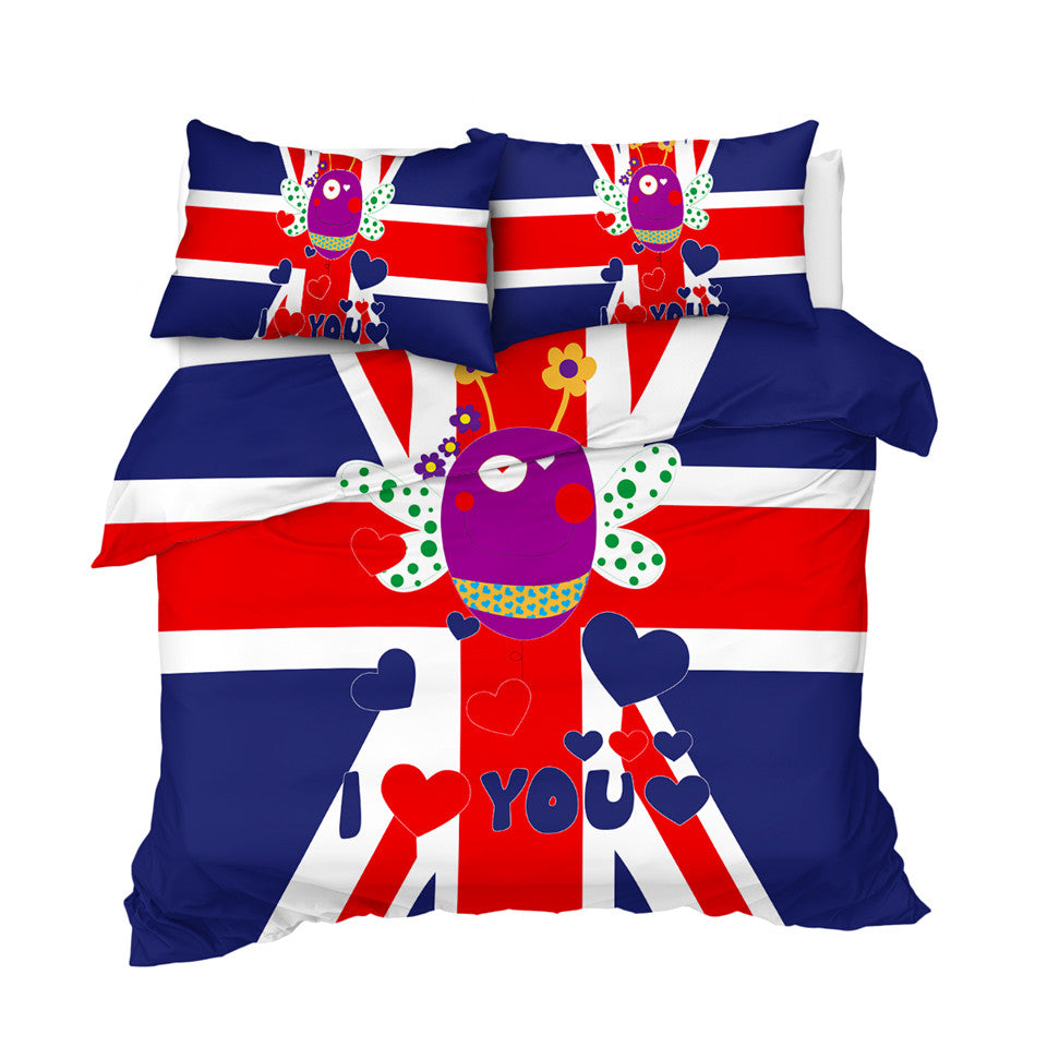 British Flag Bee Bedding Set - Beddingify