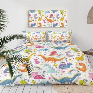 Cute Dinosaur Bedding Set for Kids - Beddingify