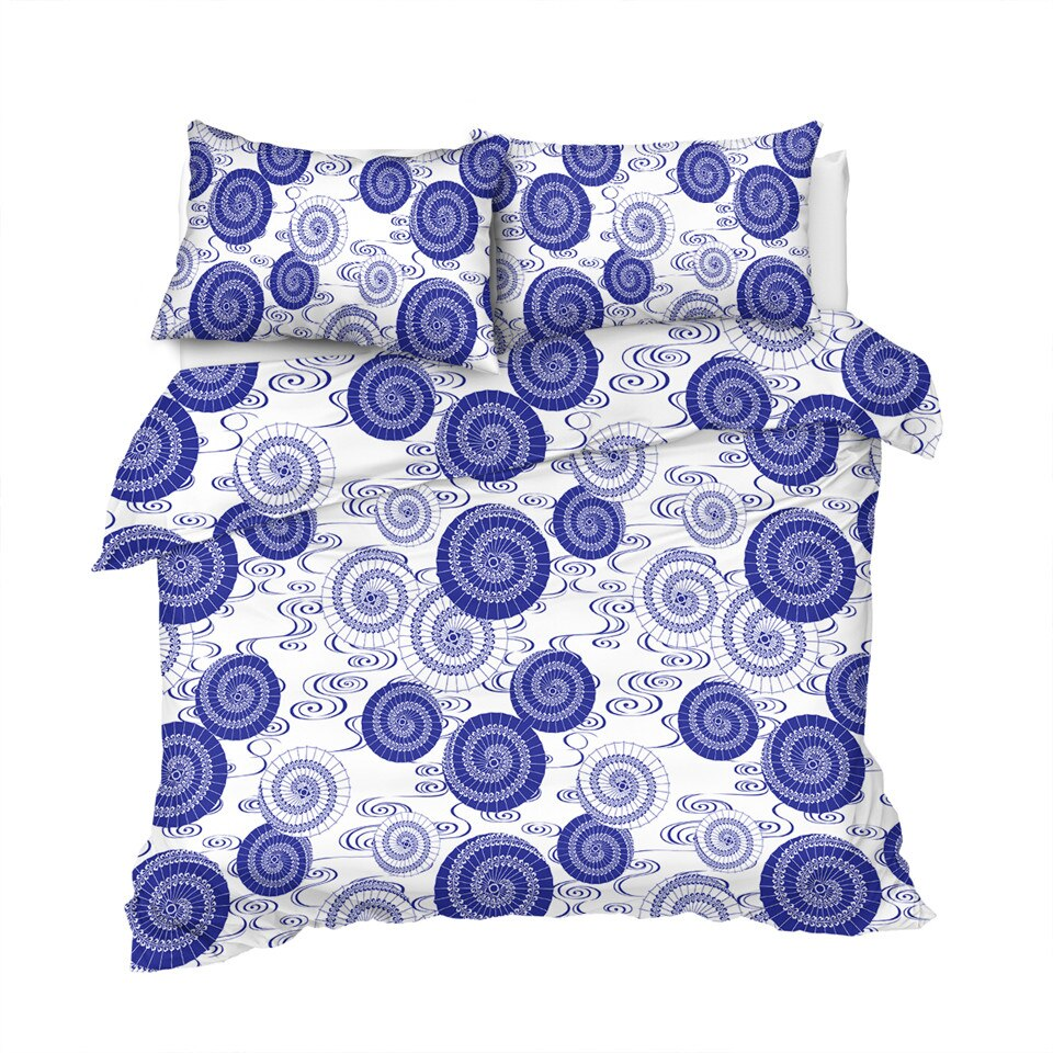 Blue Abstract Art Floral Bedding Set - Beddingify