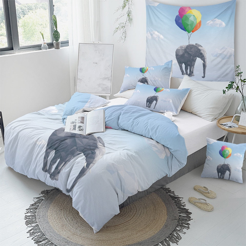 Flying Elephant Bedding Set - Beddingify