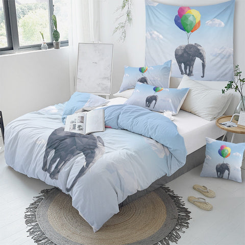 Image of Flying Elephant Bedding Set - Beddingify