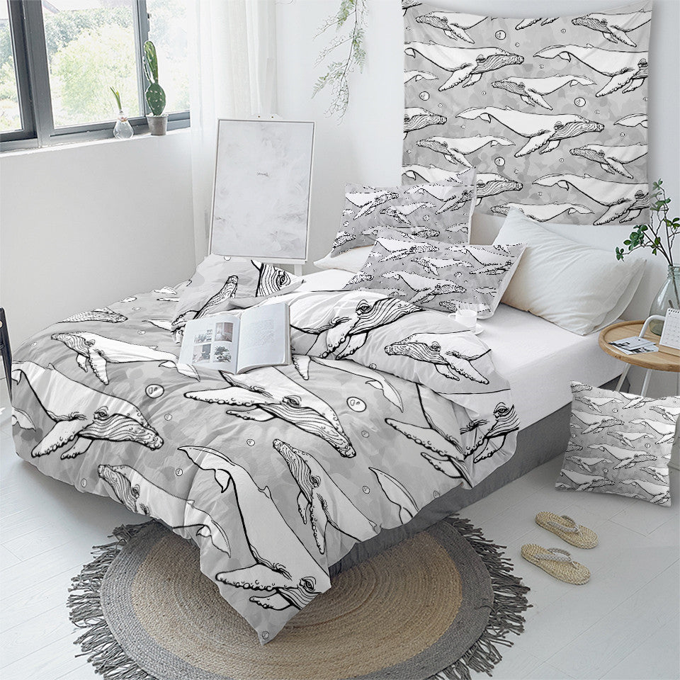 White Whale Bedding Set - Beddingify