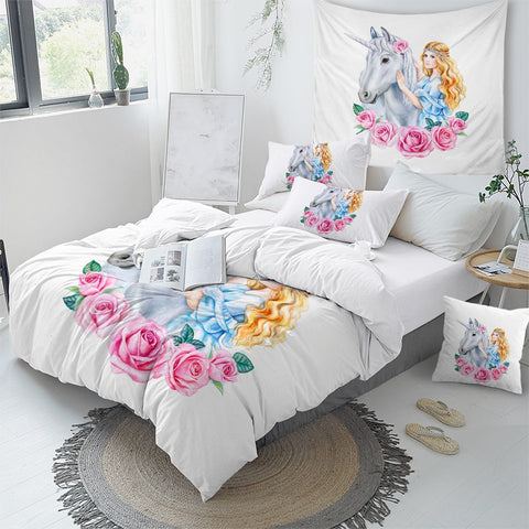 Image of Rose Unicorn Princess Bedding Set - Beddingify