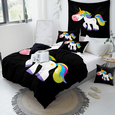 Image of Rainbow Unicorn Kids Bedding Set - Beddingify
