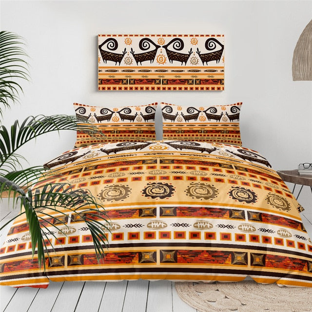 Geometric Aztec African Bedding Set - Beddingify
