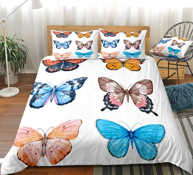 Retro Butterflies Bedding Set - Beddingify