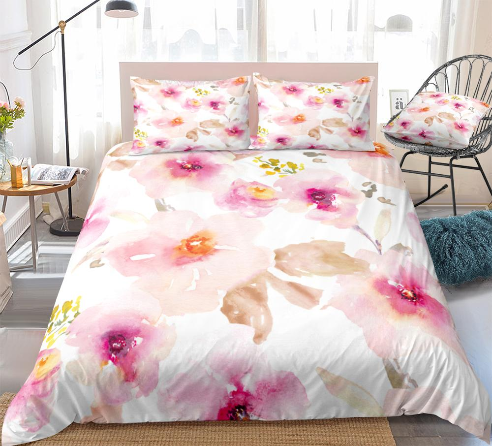 Peach Flowers Bedding Set - Beddingify