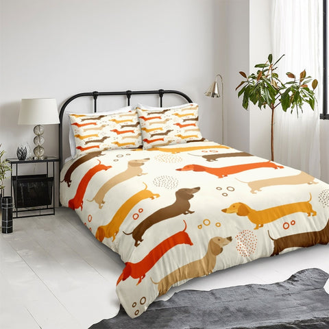 Yellow Dachshund Bedding Set - Beddingify