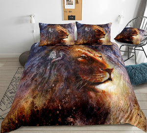 Wild Lion Art Bedding Set - Beddingify