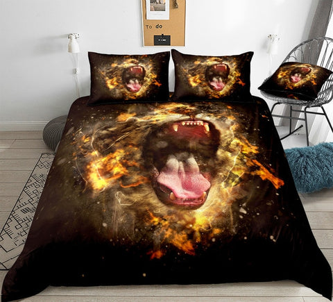 Image of Wild Lion Bedding Set - Beddingify