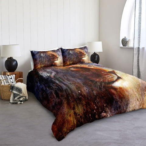 Image of Wild Lion Art Bedding Set - Beddingify