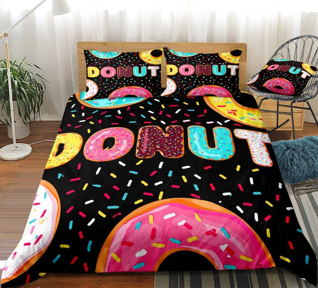 Donut Word Bedding Set - Beddingify