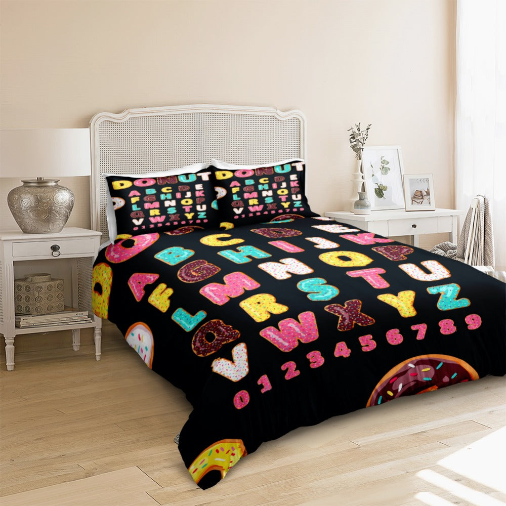 Donut Letters Bedding Set - Beddingify