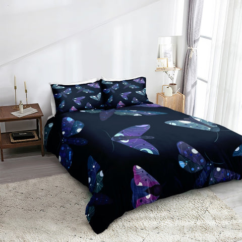 Image of Purple Moth Bedding Set - Beddingify