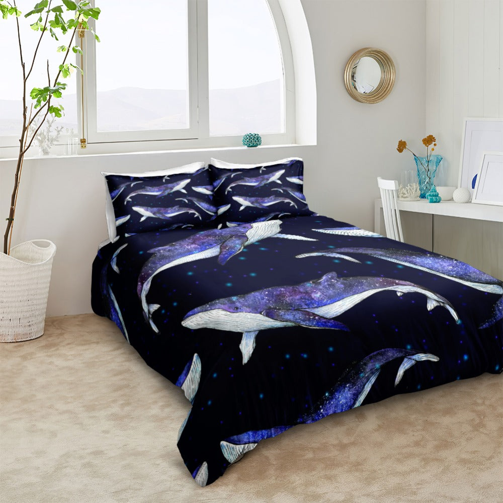 3D Blue Whale Bedding Set - Beddingify
