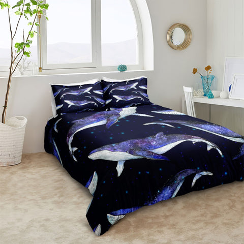 Image of 3D Blue Whale Bedding Set - Beddingify