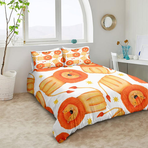 Image of Cartoon Lion Kid Bedding Set - Beddingify