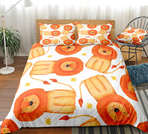 Cartoon Lion Kid Bedding Set - Beddingify