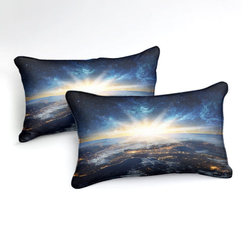 Image of Earth From Galaxy Bedding Set - Beddingify