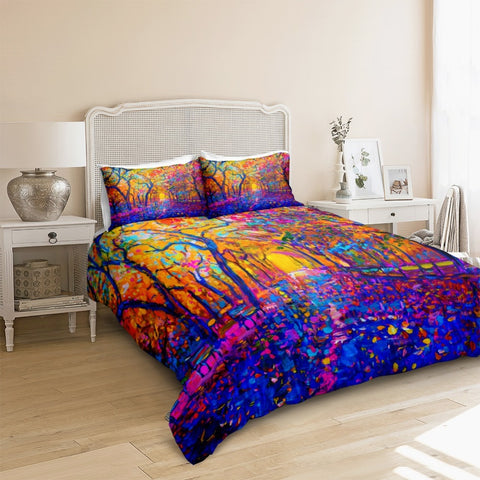 Image of Autumn Forest Bedding Set - Beddingify
