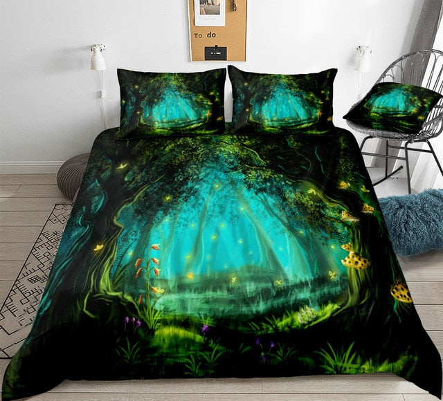 Forest Night Bedding Set - Beddingify