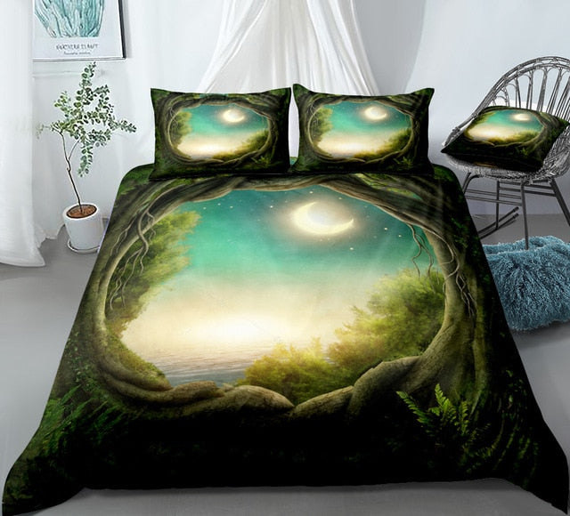 Forest Moon Bedding Set - Beddingify