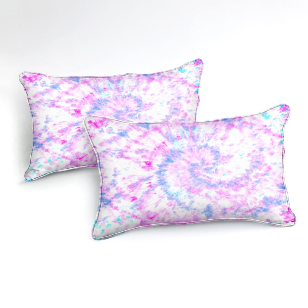 Purple Blue Tie Dye Bedding Set - Beddingify
