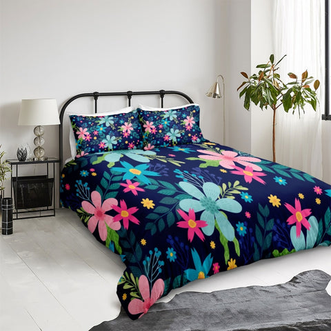 Image of Colorful Flower Bedding Set - Beddingify