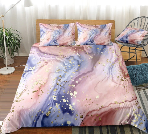 Pink Purple Quicksand Bedding Set - Beddingify