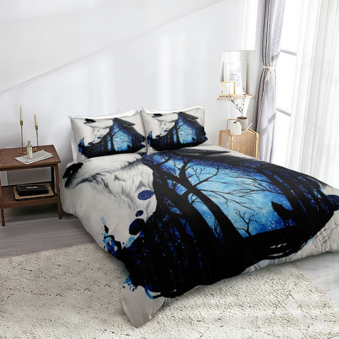 Image of Forest Wolf Bedding Set - Beddingify