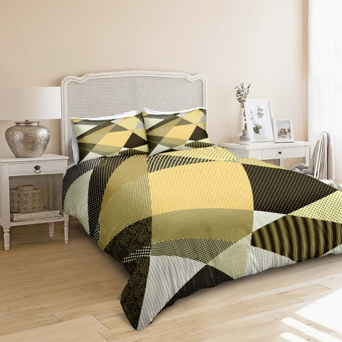 Yellow Geometric Bedding Set - Beddingify
