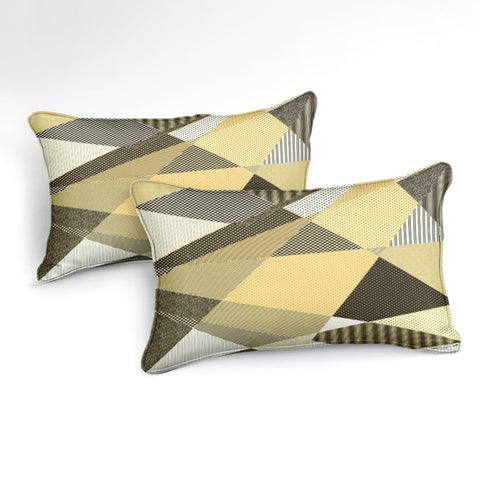 Image of Yellow Geometric Bedding Set - Beddingify