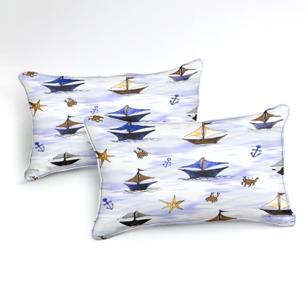 Sailboat Bedding Set - Beddingify