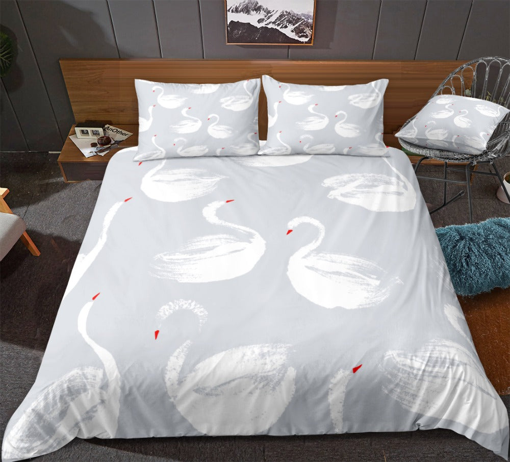 White Swans Bedding Set - Beddingify