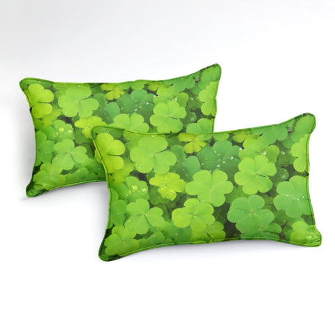 Image of Green Clovers Bedding Set - Beddingify
